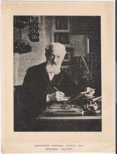 Print (Collotype, from a Photograph) of Washington Teasdale at his Desk, c.1897 (Inv. 35156) This is probably a self-portrait of Teasdale.