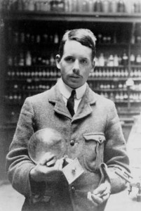 A young Henry Moseley, taken in the Balliol-Trinity Laboratory, Oxford, c.1910.