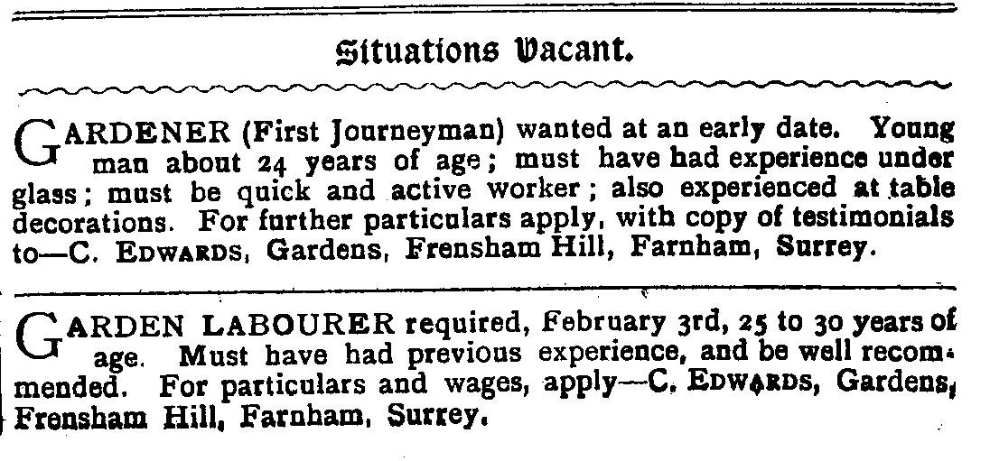 The advert which appeared in Bell News, 18 January 1908, p 519