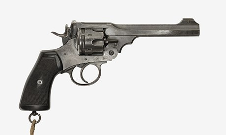Tolkien's Webley Mk VI service revolver, now on display at the Imperial War Museum, North. Photograph: Imperial War Museum