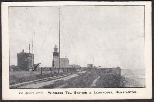 """Empire Series"": Lighthouse & Wireless Telegraph Station Hunstanton postcard, c. 1909."