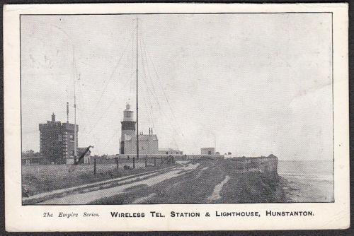 """Empire Series"": Lighthouse & Wireless Telegraph Station Hunstanton postcard, c. 1909."