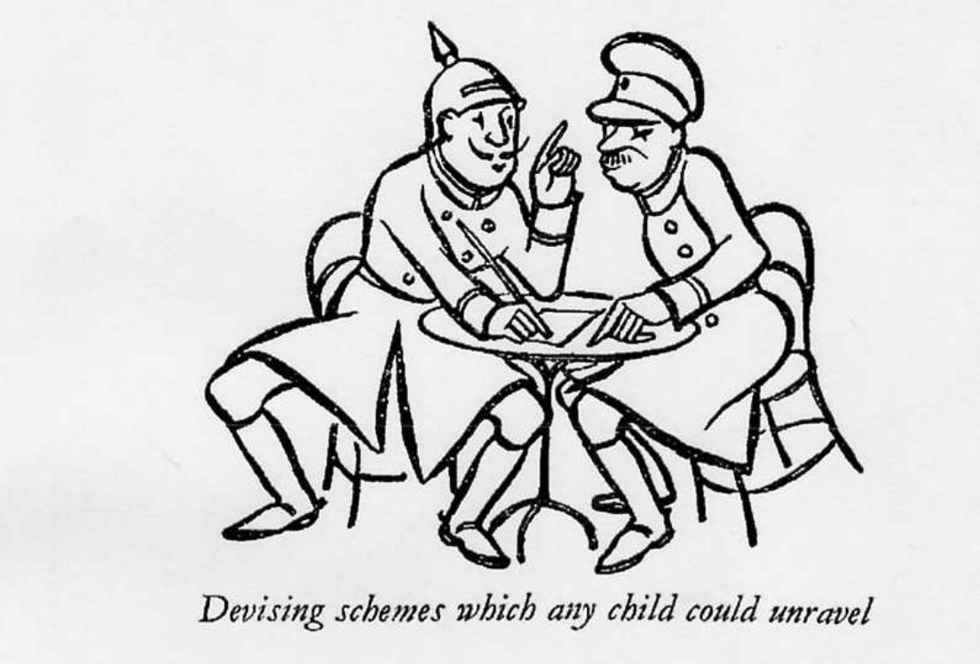 One of the cartoons from War, Wireless and Wrangles (1934)