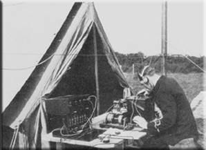Wireless Direction-Finding Station on the cliffs near Hunstanton, c. 1915.