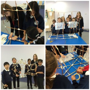 Pupils work on their lantern constructions
