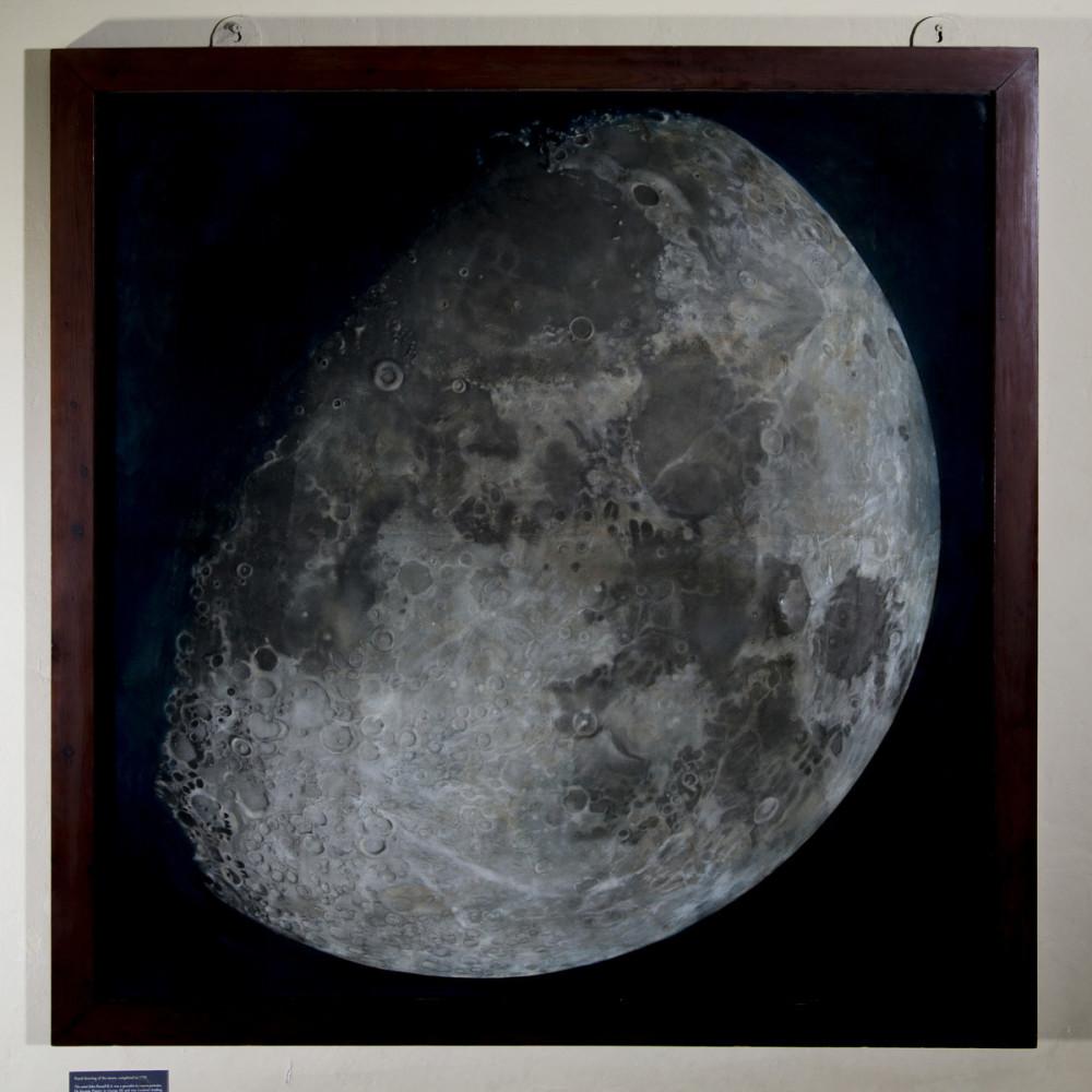 John Russell's moon pastel, 1795