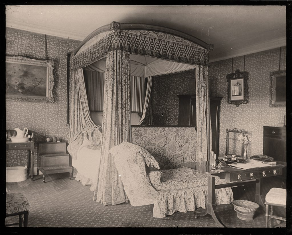 """Sarah Angelina Acland, """"Bedroom at Killerton"""" (digital positive from 5x4 negative, 1899) Bodleian Library, Minn Collection Negative 199/9"""