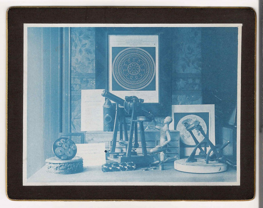 Photograph (Cyanotype) of a Still Life Arrangement of Items Relating to Astronomy by Washington Teasdale, c.1880 (Inv. 38479)