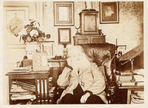 Photograph (Gelatine Print) of Henry Perigal in his Study, by Washington Teasdale and George Smith, April 4, 1897 (Inv. 76721). Henry Perigal was a British stockbroker and amateur mathematician, and a friend of Teasdale.