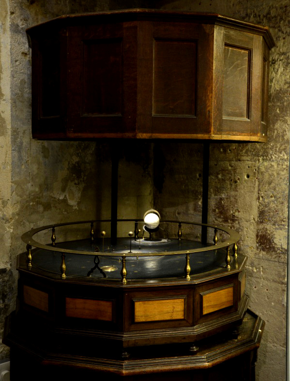 Orrery, by Thomas Wright, London, c. 1731 (Inv. 35757) It is thought that this orrery was owned by Charles Boyle. You can see it in the basement of the Museum.