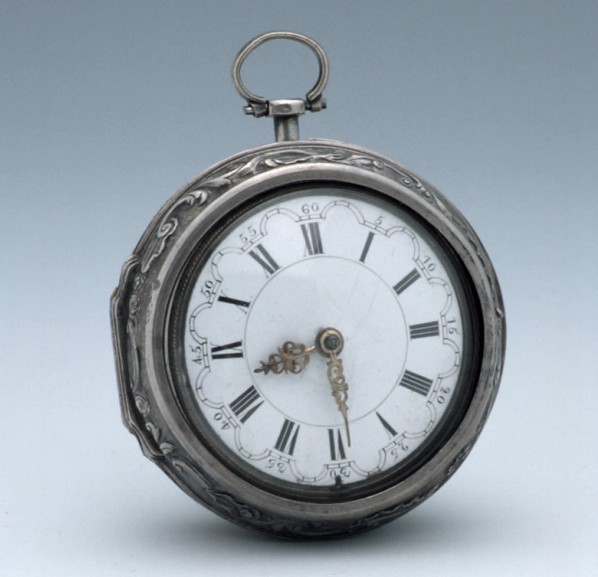 Verge watch, London, c.1750 (Inv. 52706). Although this watch is more than 200 years old, its face is incredibly similar to those we wear today.