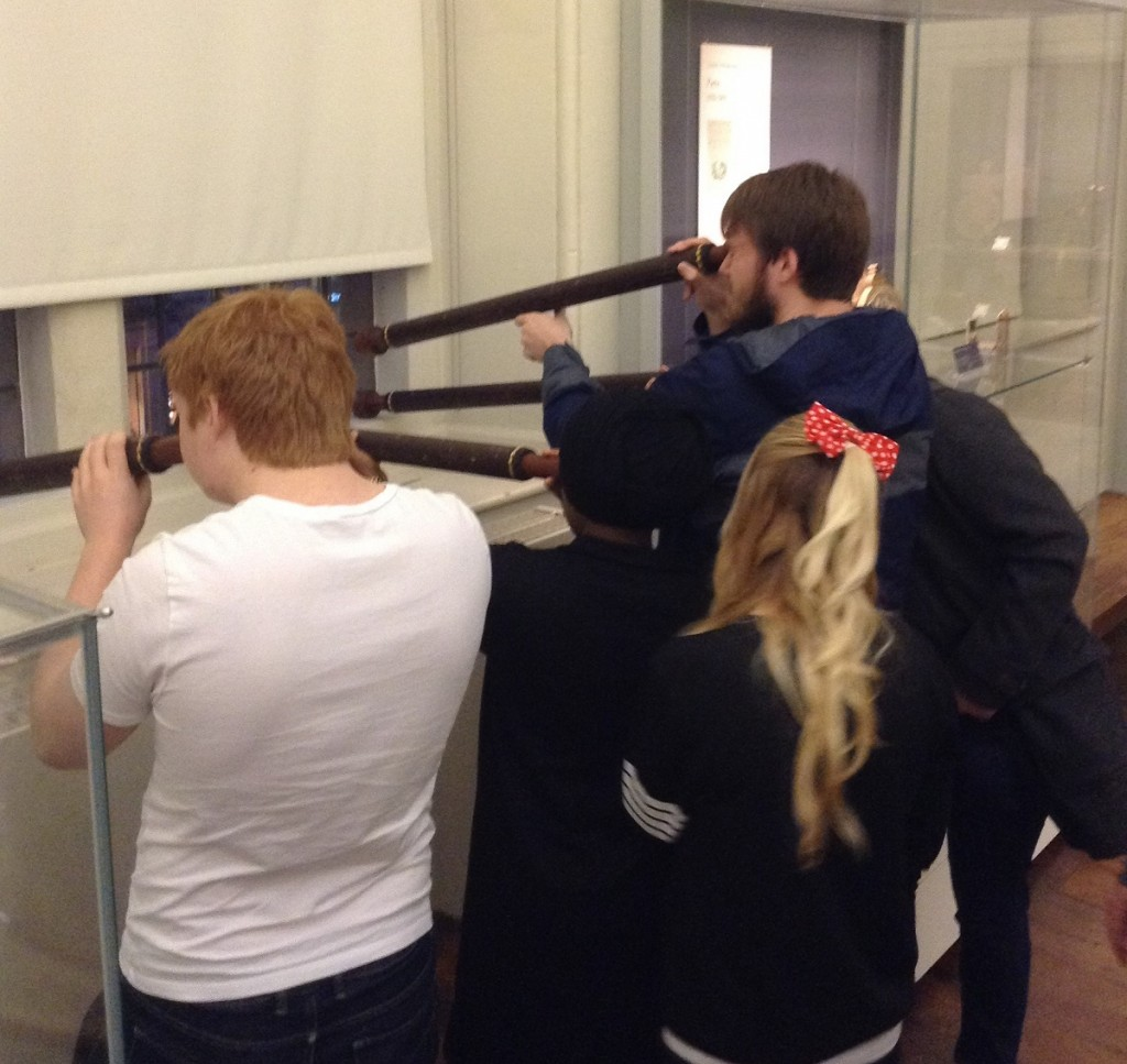 Students receive first-hand experience of the challenges of using early telescopes