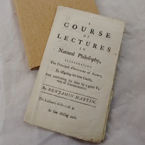 A rare piece of ephemera: Benjamin Martin's lecture syllabus.