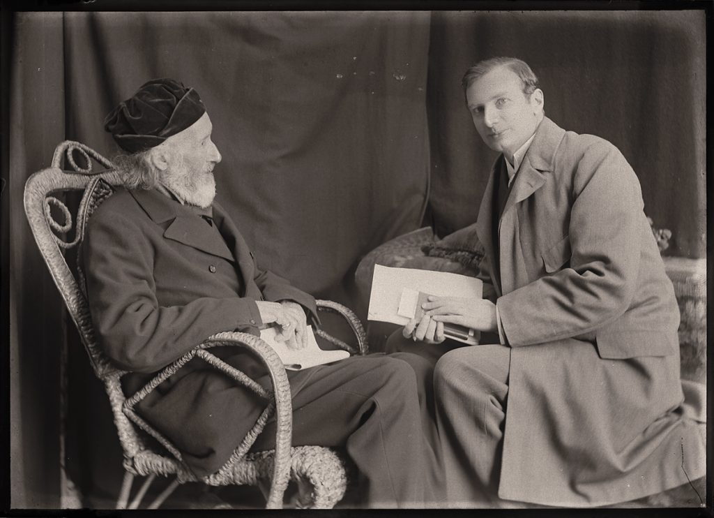 "Sarah Angelina Acland, ""Sir Henry Acland & Mr. M. W. Haffkine""  (digital positive from half-plate negative, 1899) Bodleian Library, Minn Collection Negative 202/9"