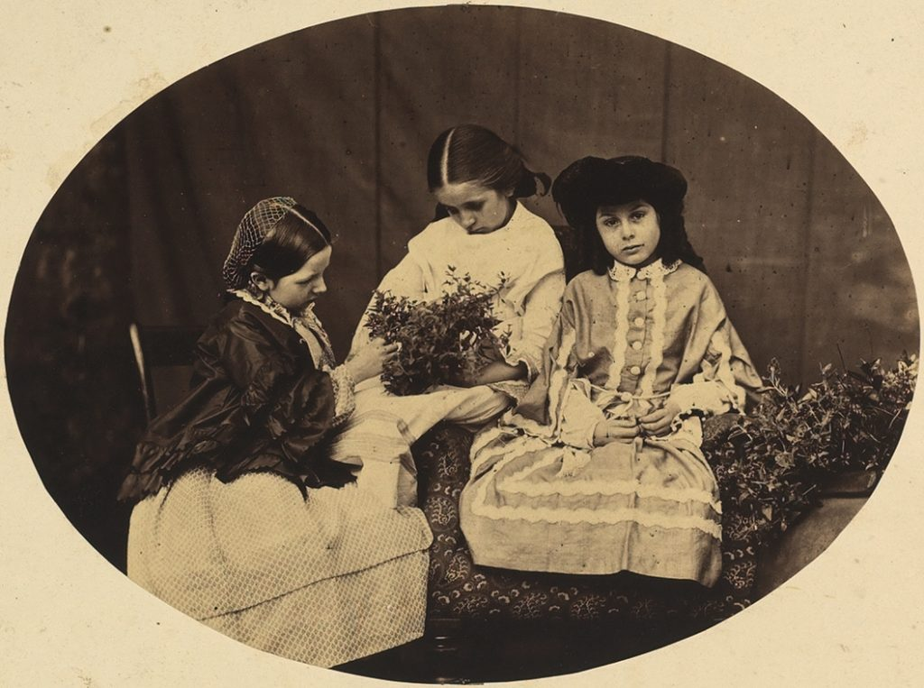 Charles Lutwidge Dodgson, Alice Donkin, Sarah Angelina Acland, and Lorina Liddell (albumen print, 1860) Bodleian Library, MS. Photogr. b. 34, f. 137