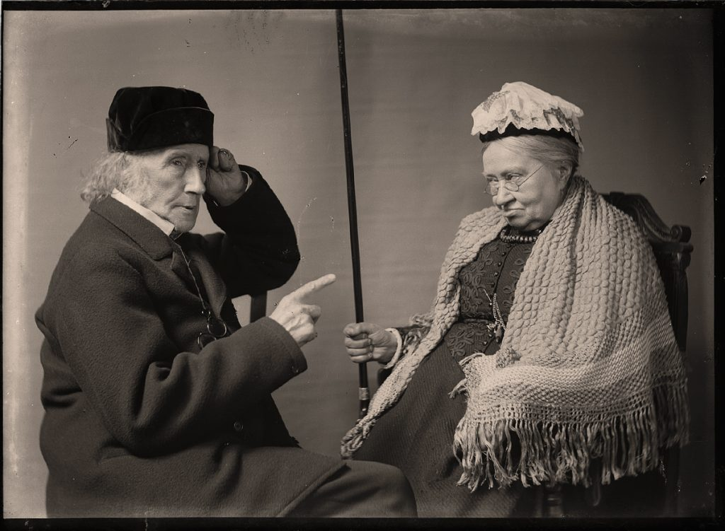 "Sarah Angelina Acland, ""Sir Henry Acland & Miss Smith"" (digital positive from half-plate negative, c. 1895) Bodleian Library, Minn Collection Negative 202/6"